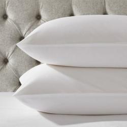 Essentials - 200 Thread Count Egyptian Cotton Standard pillowcase, 50 x 75cm, White