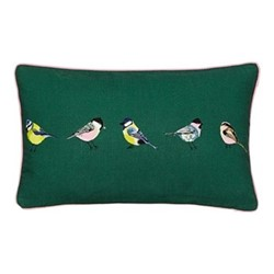 Great British Birds Cushion, L30 x W50 x H10cm, chalk