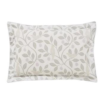 Damson Tree Oxford pillowcase, L48 x W74cm, dove