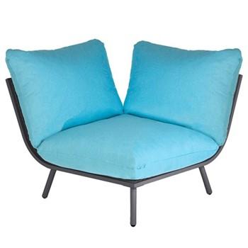 Beach Lounge corner seat, H63 x W98 x D98cm, flint/turquoise