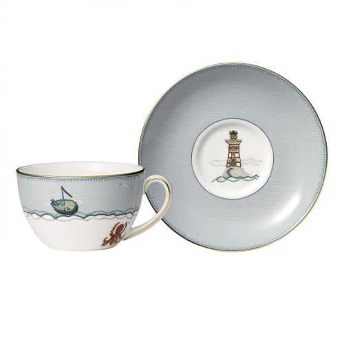 Sailors Farewell Breakfast cup and saucer, 29cl