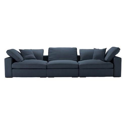 Long Island 3 part sofa, H93 x W349 x L245cm, Midnight Blue