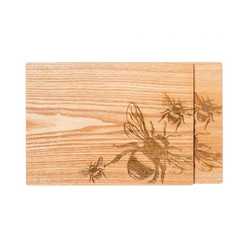 Bee Set of 2 placemats, L30 x W22cm, Oak