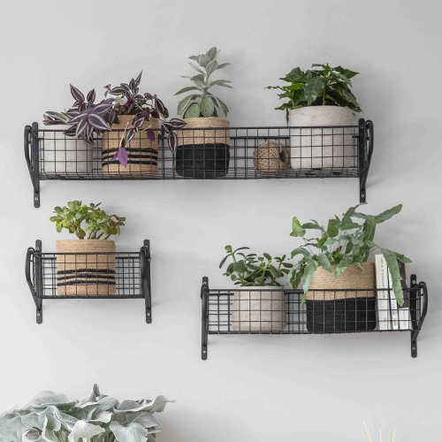 Medium hanging basket, W53cm, Black