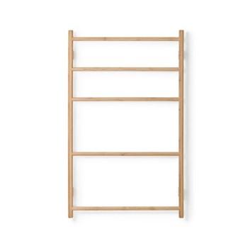 Wall Bar Towel rail, H10.70 x W65.5 x D9.5cm, bamboo