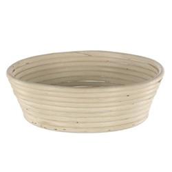 Angled round dough proving basket, 28 x 8cm - 1.5kg, natural cane