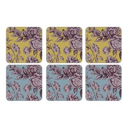 Kingsley Set of 6 square coasters, 10.5cm