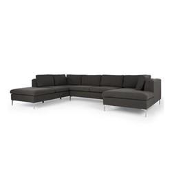 Monterosso Right hand facing corner sofa, H80 x W351 x D157cm, oyster grey