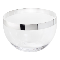 Exclusive Bowl, H15.5 x Dia 26cm, crystal and sterling silver