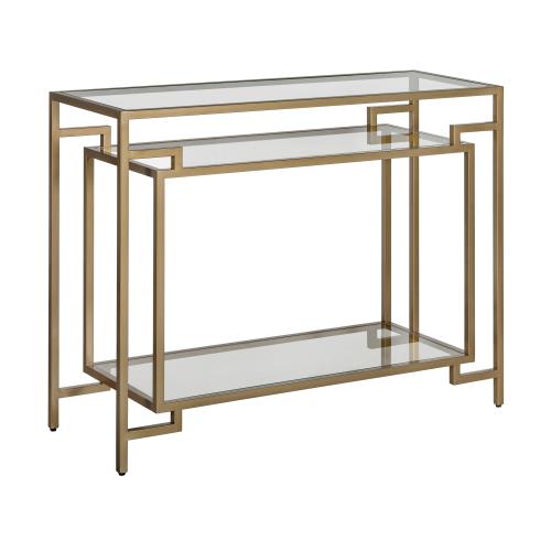 Architect Console table, W106.5 x H81 x D38cm, Gold
