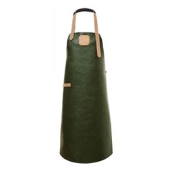 Summer Collection Apron, Large, green/nude