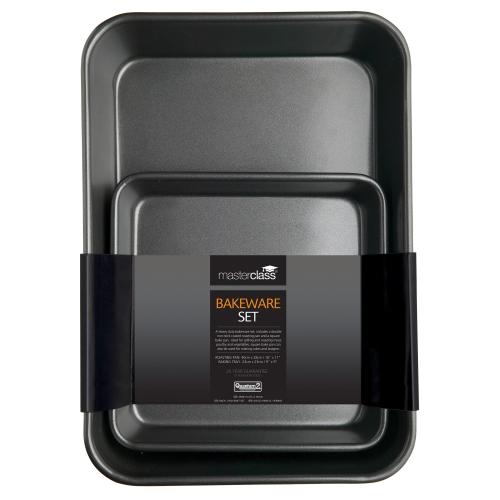 Roast pan and bake pan, 39 x 28cm (roaster) - 23cm sq (bake pan)