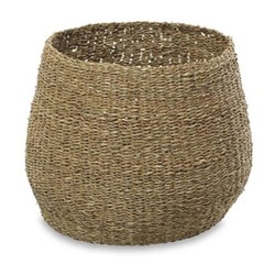 Noko Small round seagrass basket, D27.5 x 34cm, natural