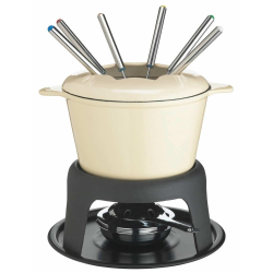 Fondue set, cream