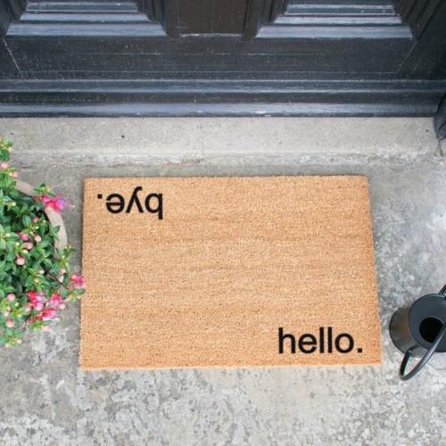 Hello, Bye Doormat, L60 x W40 x H1.5cm