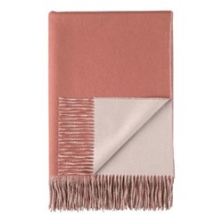 Plain Reversible double face throw, 190 x 140cm, dark coral / rose taupe