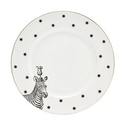 Zebra Set of 6 side plates, 16cm