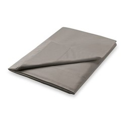 300TC Plain Dye King size flat sheet, L270 x W280cm, gunmetal grey