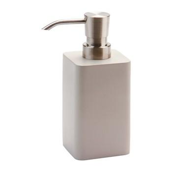 Ona Small soap dispenser, 5.9 x 5.9 x 16.3cm, greige