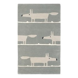 Mr Fox Rug, W140 x L200cm, silver