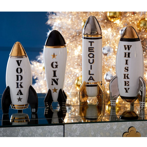 Rocket Rocket decanter, H32 x D14cm, Metallic