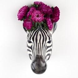 Zebra Wall vase, L15 x D14 x H15cm
