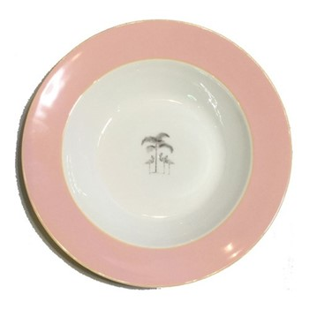 Harlequin - Pink Flamingo Soup bowl, D22cm, pink