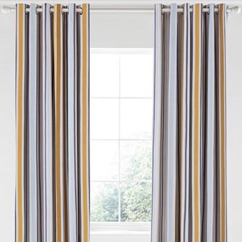 Lintu Curtains, L229 x W168cm, dandelion and pebble