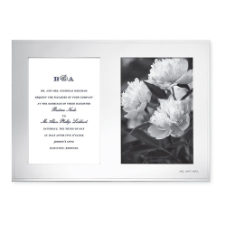 Darling Point Double invitation frame, H8.9 x L12.8cm, Silver Plated