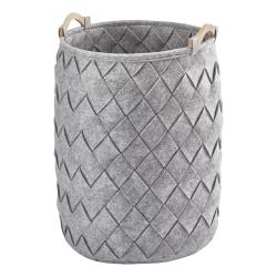 Amy Laundry basket, 40 x 60cm, silver