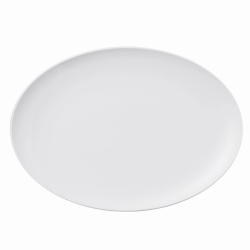 Loft Oval platter, 34cm, White
