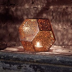 Etch Tea light holder, copper