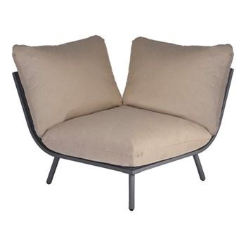Beach Lounge corner seat, H63 x W98 x D98cm, flint/taupe