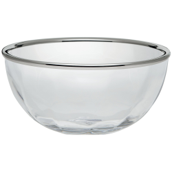 Spiral Bowl, D30 x H17cm, crystal with silver rim