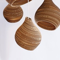Scraplights Hive9 Pendant light, D23 x H28cm, recycled cardboard