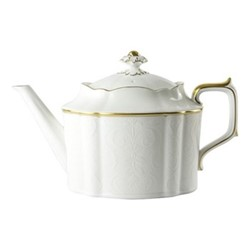 Darley Abbey Pure Gold Large teapot, 102cl, white/gold