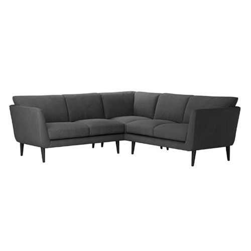 Holly Small corner sofa, H87 x W236 x L236cm, Charcoal