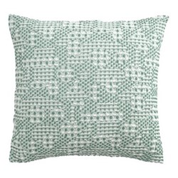Talin Cushion cover, 45 x 45cm, green/grey
