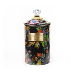 Flower Market Canister, large, black