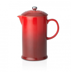 Stoneware Cafetiere, 1 litre, Cerise