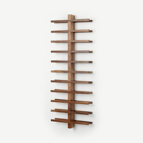 Clover Acacia Wood 22 Bottle Wall Mounted Wine Rack, Natural