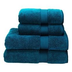 Supreme Hygro Pair of bath towels, L75 x W137cm, kingfisher