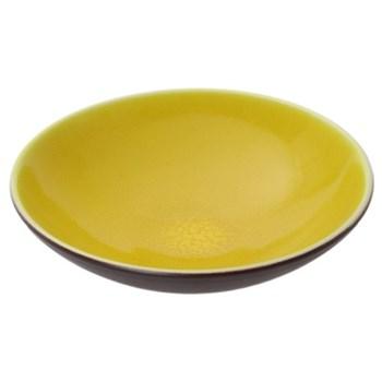 Tourron Pair of pasta plates, 23.7cm, citron