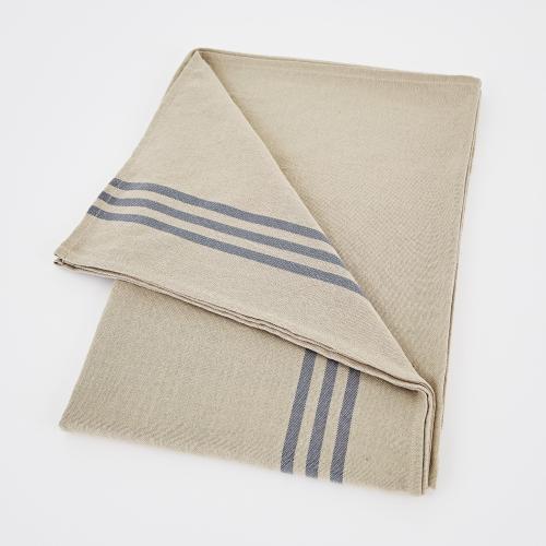 Maxime Tablecloth, W160 x L250cm, Linen / Blue