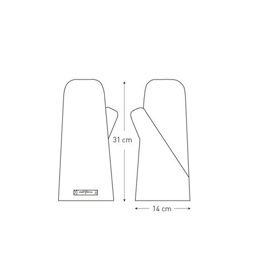 Joy Vasiljev Medium Oven Mitt, 14 x 31cm, Clay