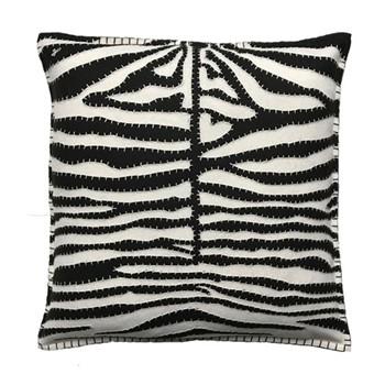 Zebra Print Cushion, 46 x 46cm, cream