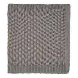 Satara Knitted throw, L200 x W150cm, grey