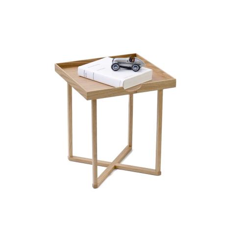 Damien Square table, H45 x W37 x D37cm, Oak