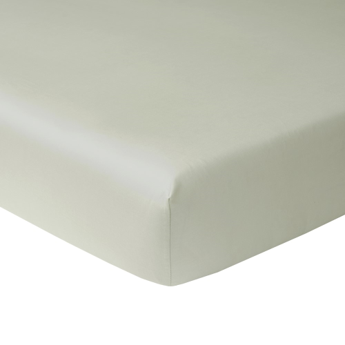 Triomphe - 300 Thread Count Cotton Sateen Double fitted sheet, 135 x 180cm, Sauge