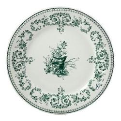 Les Depareillées - Oiseau Set of 6 dinner plates, 27cm, green